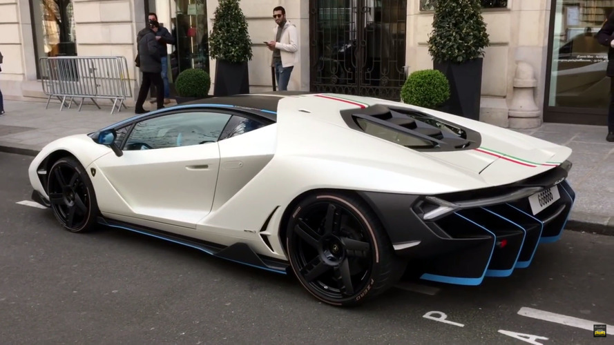 Lamborghini Centenario Paris ve Londra sokaklarında