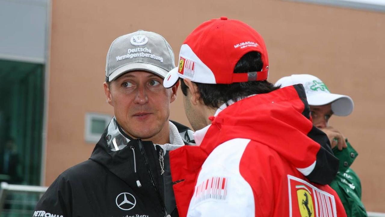 Michael Schumacher (GER), Mercedes GP Petronas and Fernando Alonso (ESP), Scuderia Ferrari - Formula 1 World Championship, Rd 17, Korean Grand Prix, 24.10.2010 Yeongam, Korea
