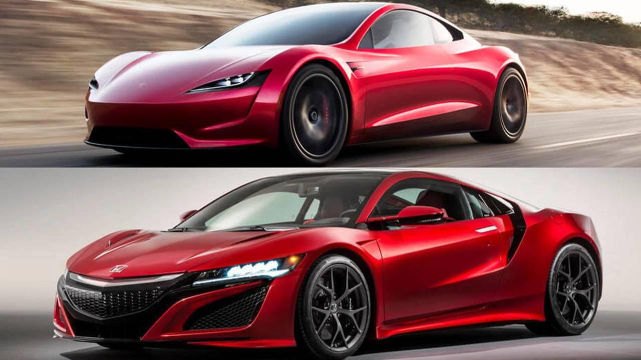 Acura NSX vs Tesla Roadster