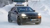 2018 Porsche Macan karlı casus fotoğraflar