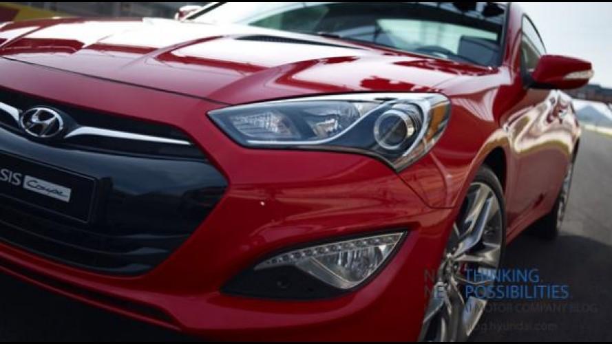 Hyundai Genesis Coupé reestilizado tem imagens oficiais vazadas novamente