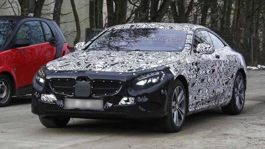 Mercedes-Benz S-Class Coupe spied for the first time