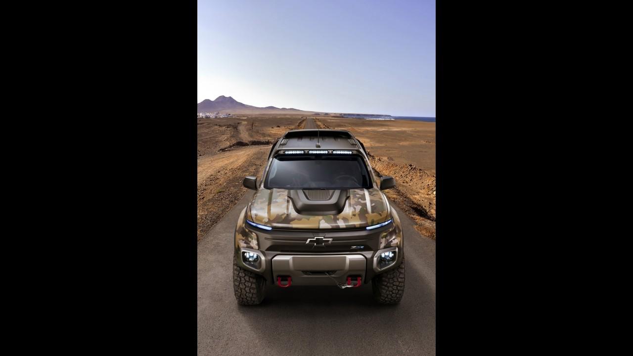 Preparada para guerra: Chevrolet S10 ganha conceito militar movido a hidrogênio