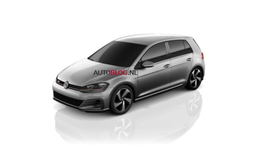2017 VW Golf 7 GTI facelift leaked photos
