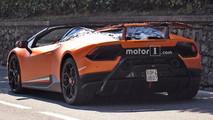 2018 Lamborghini Huracan Performante Spyder casus fotoğrafları