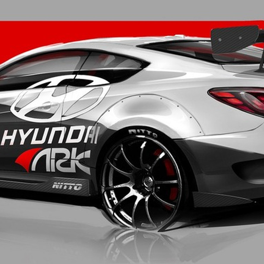 Hyundai Genesis Coupe R-Spec Track Edition for SEMA Teased by Ark Performance