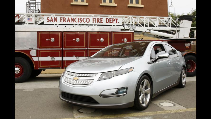 Come si spegne un'auto elettrica in fiamme?