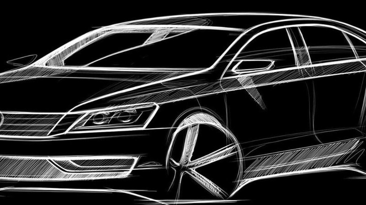 Volkswagen New Mid-size sedan, NMS, design sketch