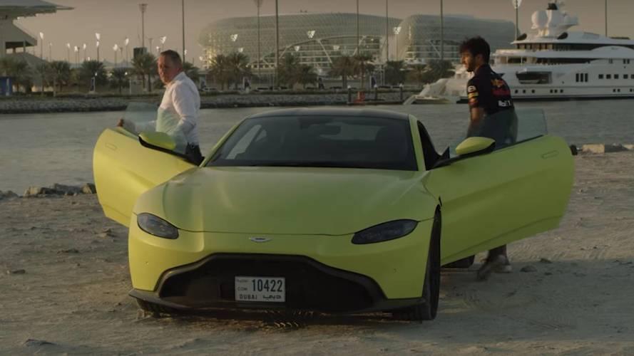 Daniel Ricciardo prueba el Aston Martin Vantage 2018