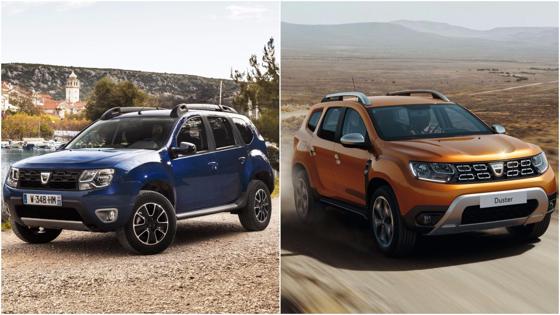 2018 dacia duster see the changes side by side for Dacia duster 2018 uscita