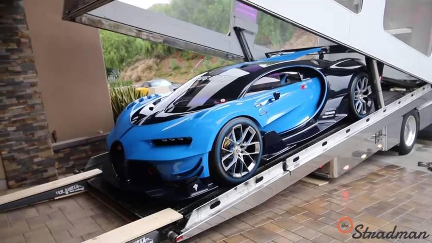 VIDÉO - L'unique Bugatti Vision Gran Turismo débarque aux USA