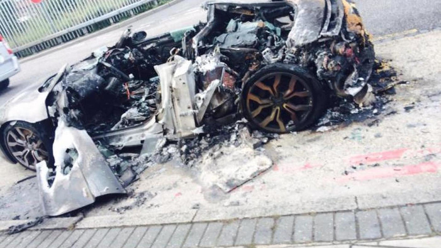 Heavy fire melts Audi R8 in London