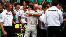 Race winner Nico Rosberg (GER) celebrates with Dr. Dieter Zetsche (GER) and the team, 20.07.2014, German Grand Prix, Hockenheim / XPB