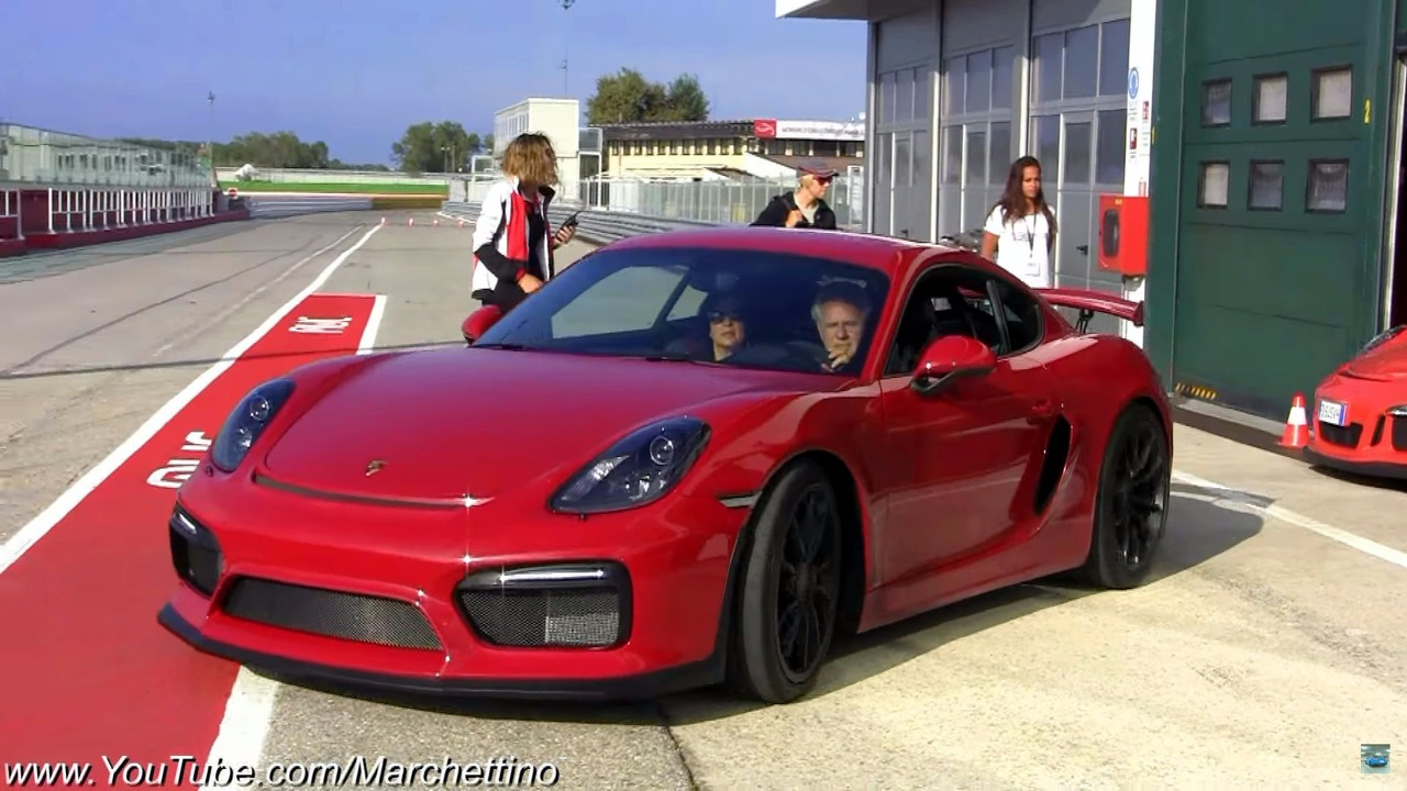 Horacio Pagani on track in Porsches