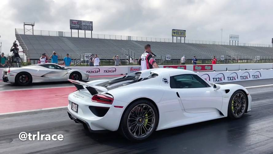 Father Vs. Son In Hypercar Race Between LaFerrari And 918 Spyder