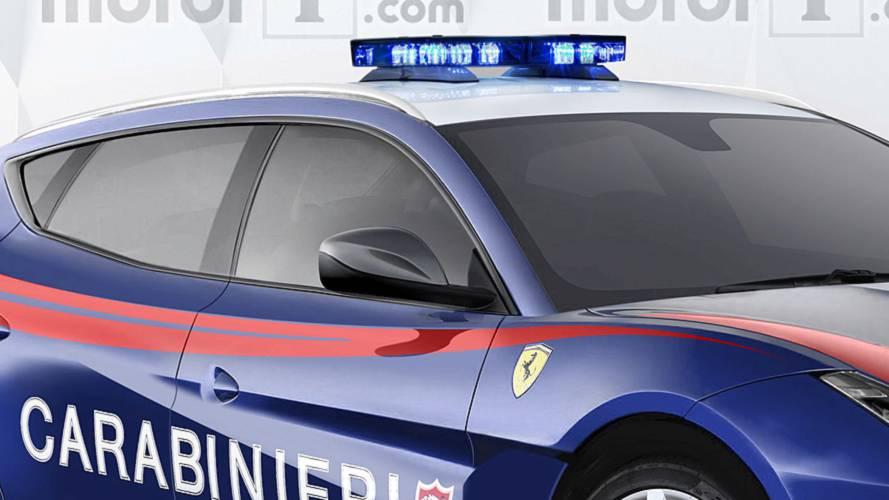 bient t le suv ferrari pour la police italienne. Black Bedroom Furniture Sets. Home Design Ideas