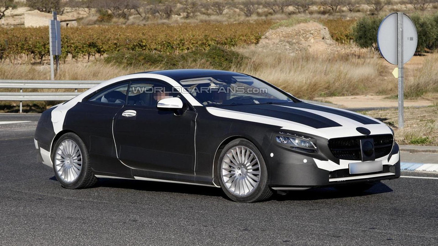 2014 Mercedes-Benz S-Class Coupe sheds some camo in new spy photos