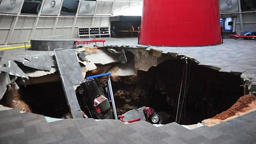 Sinkhole gobbles up priceless Corvettes at the National Corvette Museum