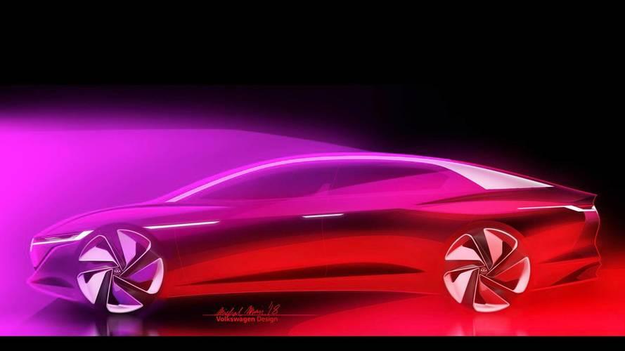 Une Volkswagen I.D. Vizzion Concept en route pour Genève