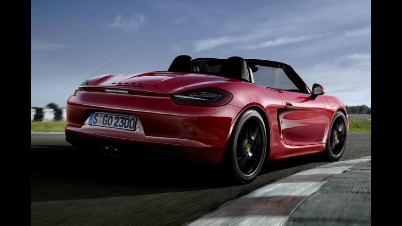 Porsche Boxster e Cayman ganham versão GTS - mais potência e pacote esportivo