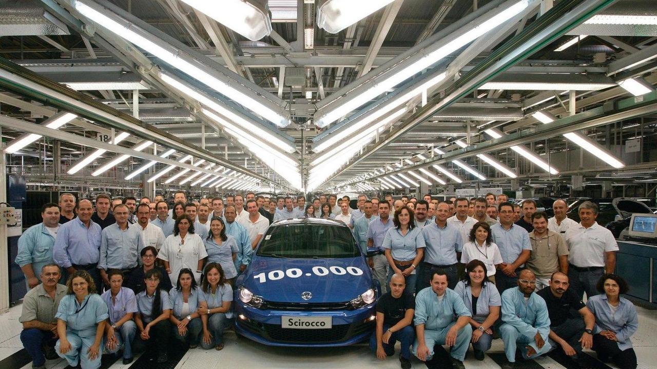 100,000 third-generation Scirocco, Production celebration at Volkswagen Autoeuropa plant, Palmela, Portugal, 06.08.2010