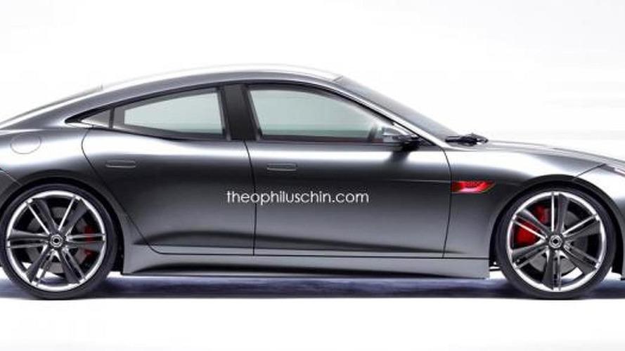 jaguar f type rendered as a stylish four door coupe. Black Bedroom Furniture Sets. Home Design Ideas