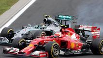 Nico Rosberg (GER) and Kimi Raikkonen (FIN), 27.07.2014, Hungarian Grand Prix, Budapest / XPB