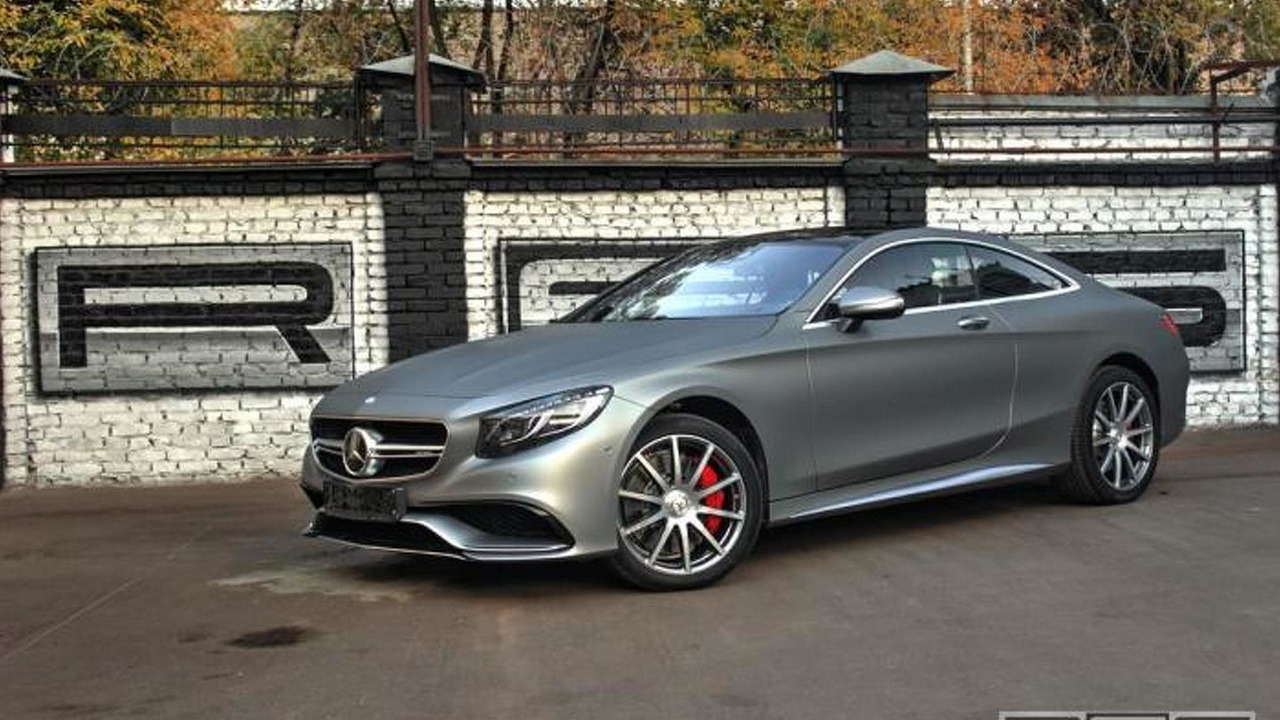 Matte gray wrapped mercedes s63 amg coupe looks sexy for Matte mercedes benz