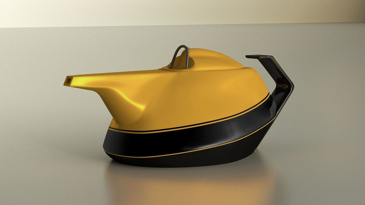 Renault Yellow Teapot