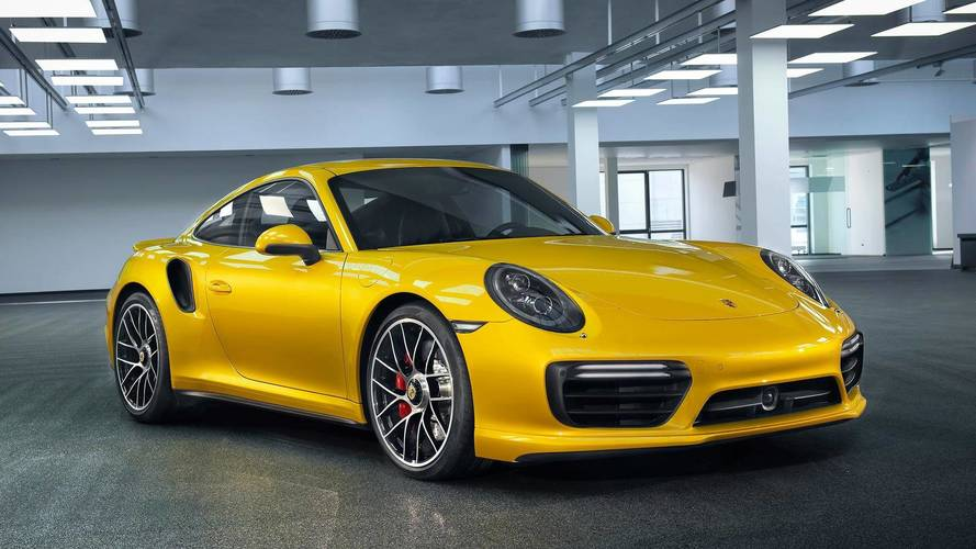 Porsche 911 Turbo Looks Spicy In New Saffron Yellow Metallic Paint