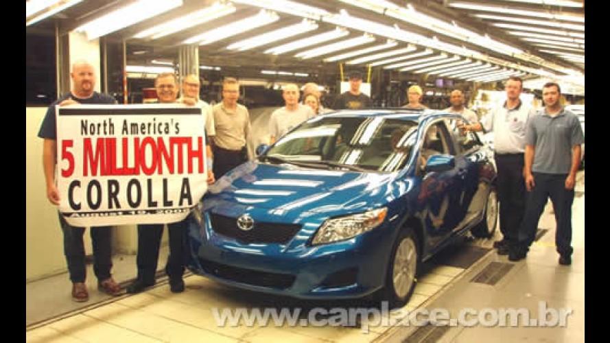 Toyota chega a marca de 5 milhões de Corollas produzidos nos Estados Unidos