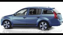 Especulação 1: Projeção mostra Renault Sandero na versão Grand Tour