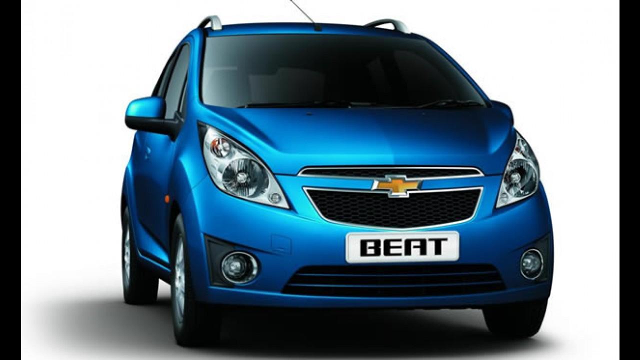 Chevrolet Beat é lançado na Índia por R$ 12.500 - Modelo deve suceder Celta no Brasil em 2012