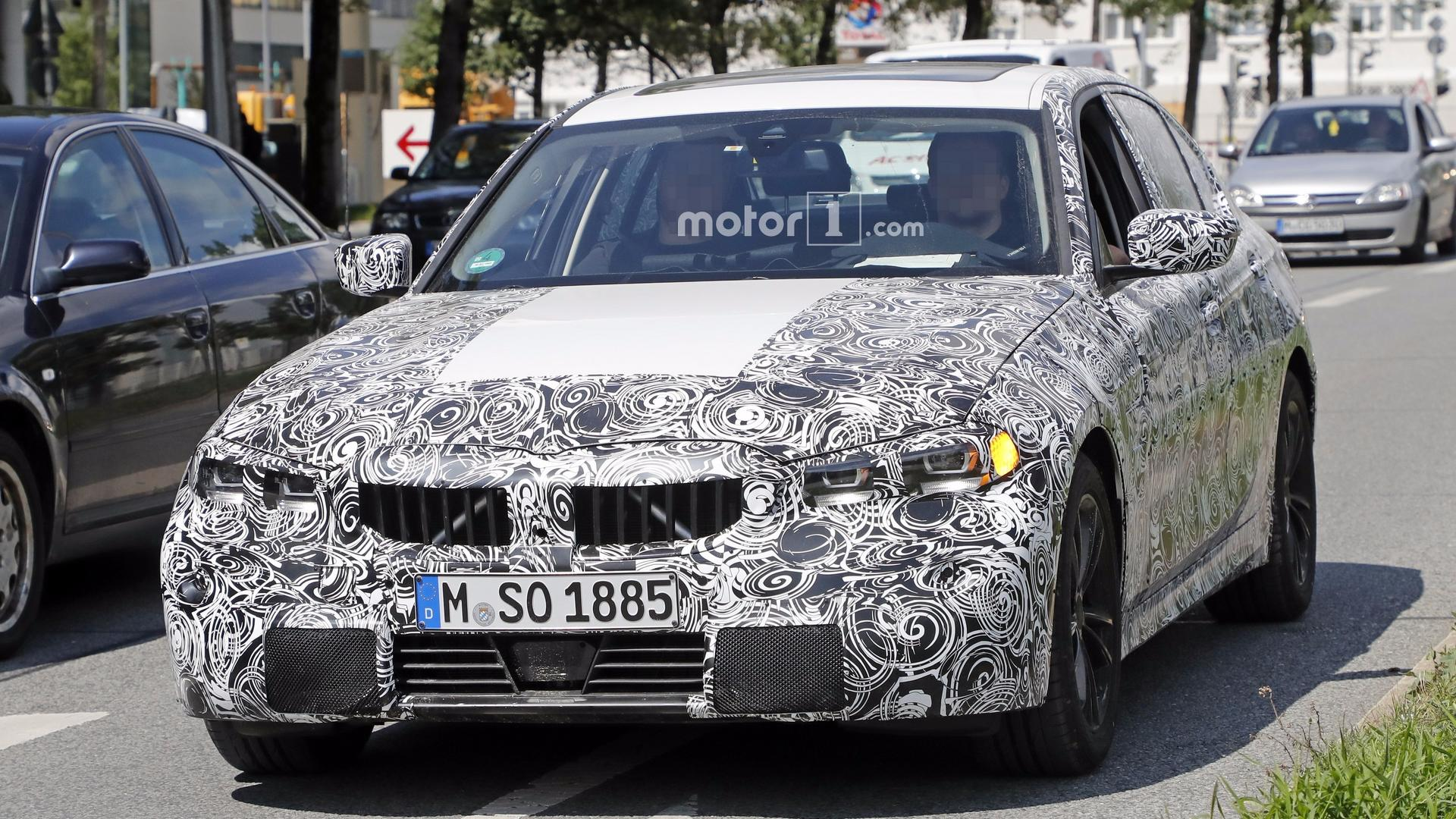2019 bmw 3 series caught with production lights. Black Bedroom Furniture Sets. Home Design Ideas