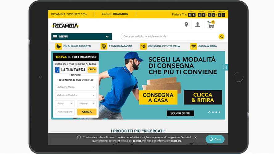 """Acquisto ricambi online, con """"Ricambia"""" di Rhiag è più semplice"""