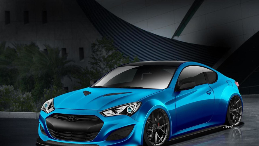 Hyundai teases another Genesis Coupe Coupe for SEMA