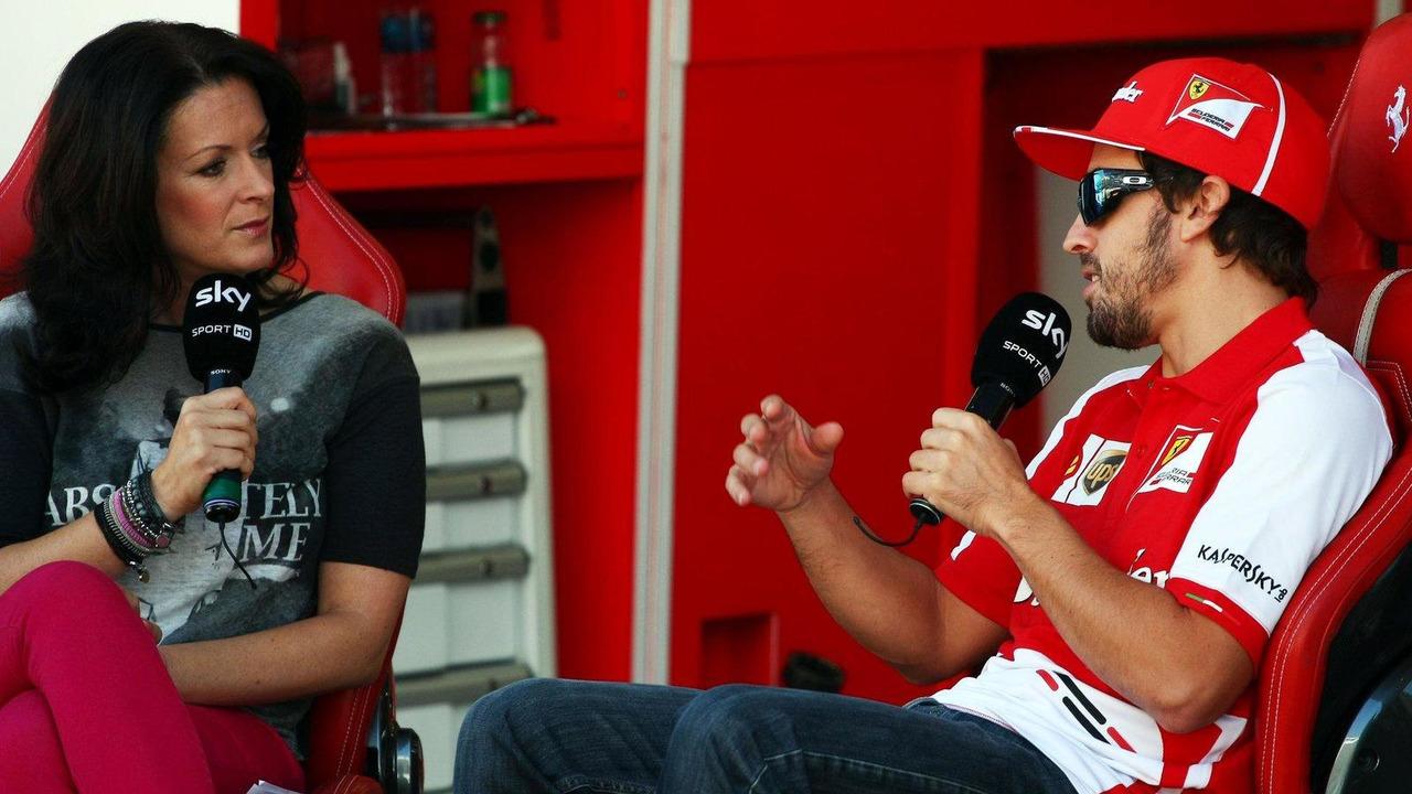 Fernando Alonso with Tanja Bauer Sky Germany TV Presenter 04.10.2013 Korean Grand Prix