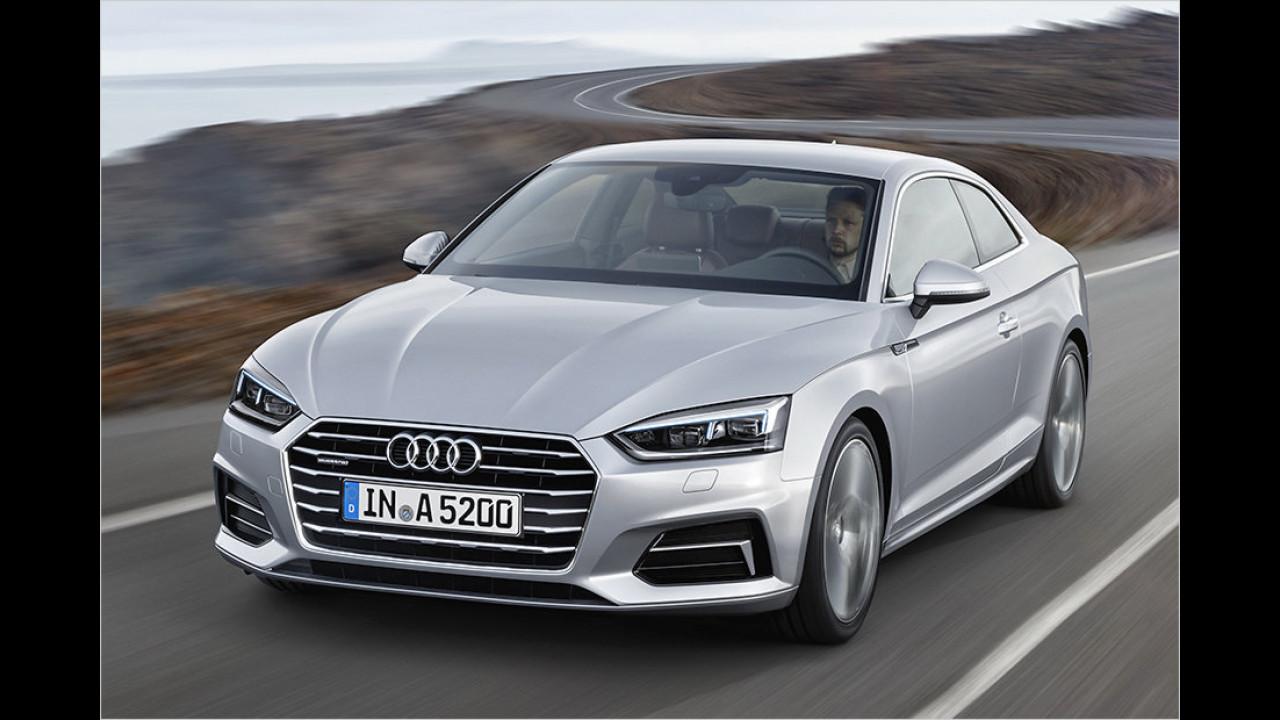 8. Platz: Audi A5 Coupé 3.0 TDI 200 kW quattro tiptronic