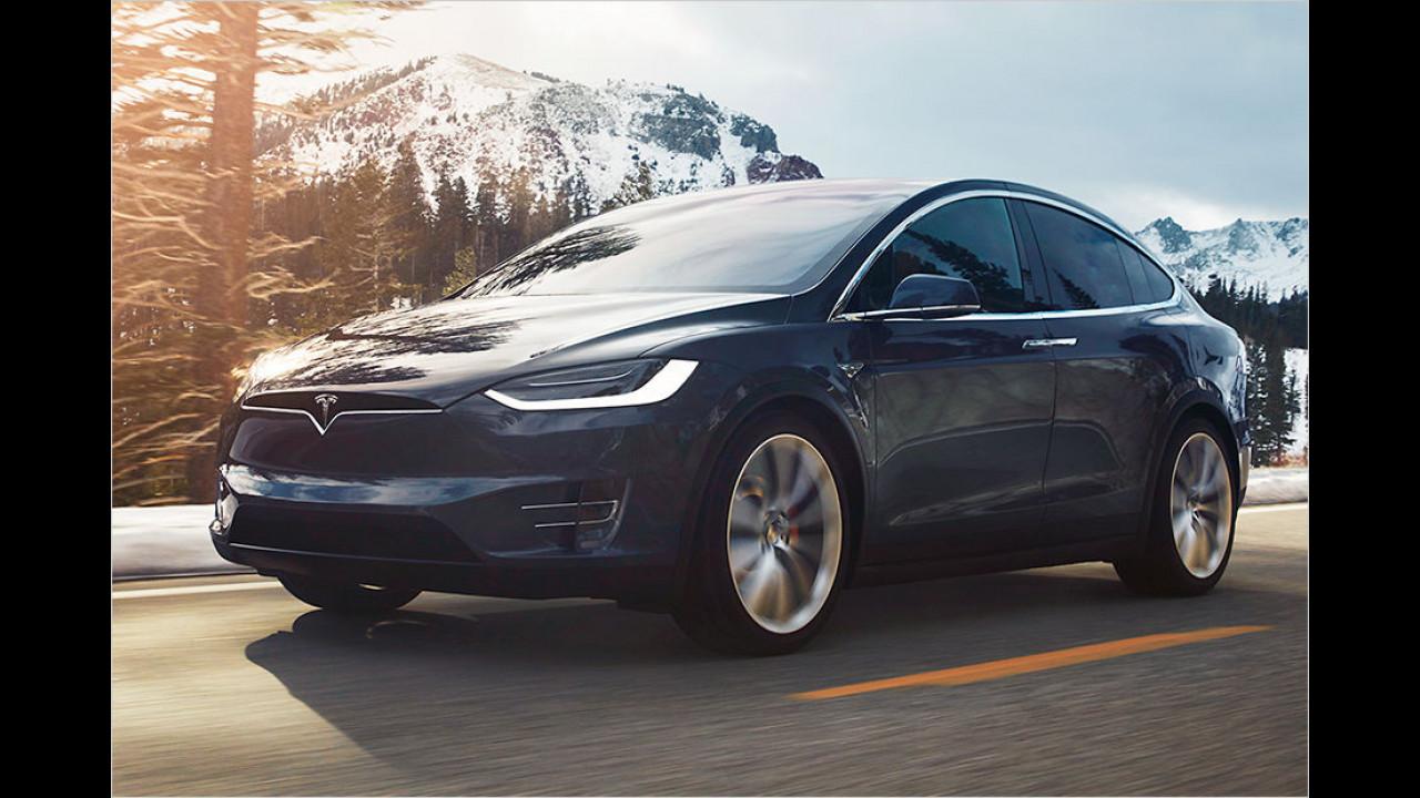 Platz 11: Tesla Model X (2.389 Kilo)