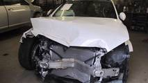 Wrecked Mercedes C300 gets repaired