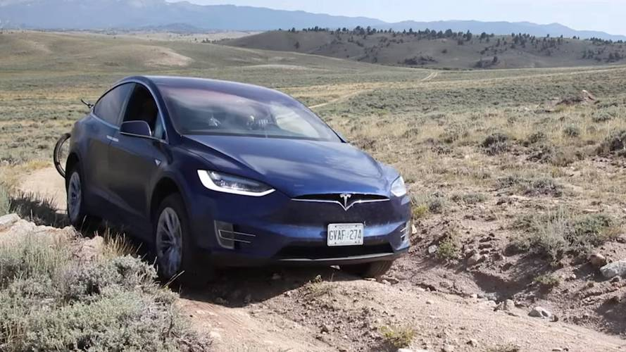 Finally A Tesla Model X Does Some Real Off-Roading