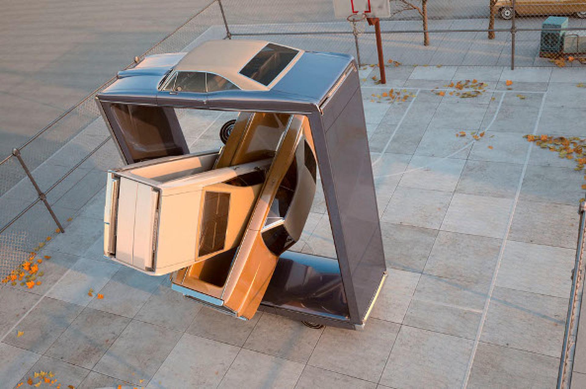 "Artist Depicts Fantastically Warped Pontiacs in ""Auto Aerobics"""