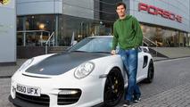 Mark Webber with his 2011 Porsche 911 GT2 RS, 650