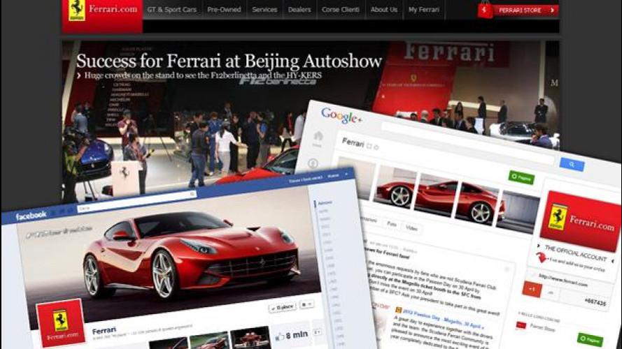 Ferrari spopola sui social network