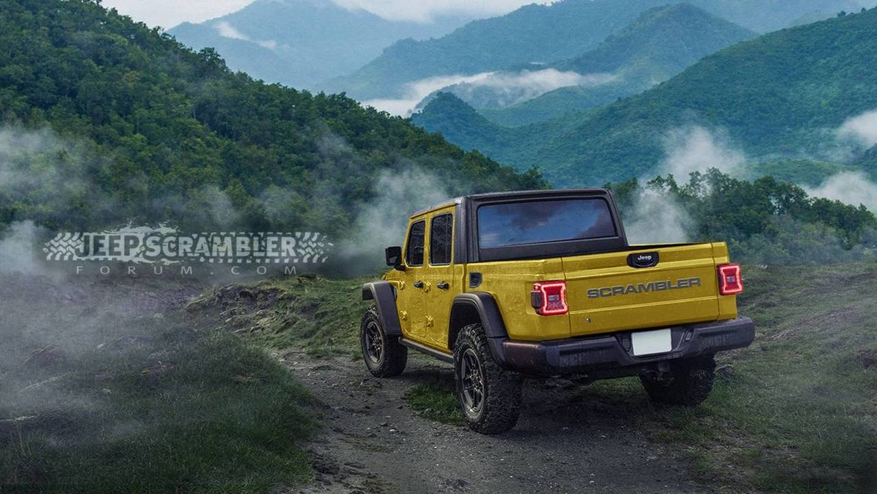 2019 Jeep Wrangler Truck >> 2020 Jeep Scrambler Render Looks Ready For The Real World