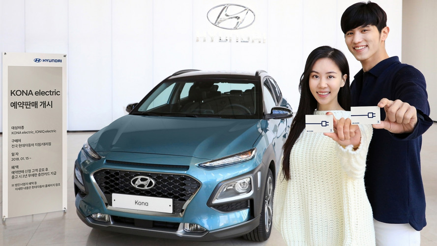 Hyundai Kona Electric, promette 390 km con un pieno