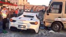 Ferrari 488 Spider accident Chine
