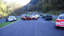eight-car pileup on the ring - 03.10.2011