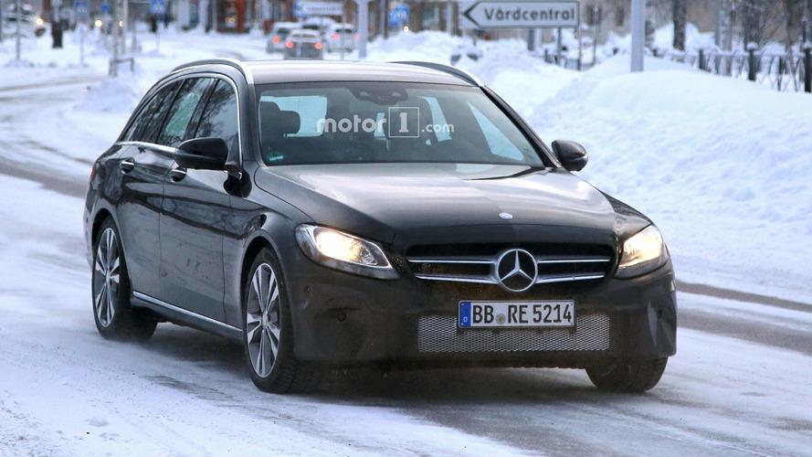 2018 Mercedes C-Class Estate facelift spy photos