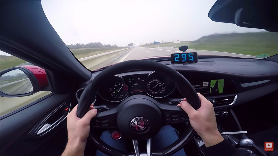 VIDÉO - 289 km/h au volant de l'Alfa Romeo Giulia QV